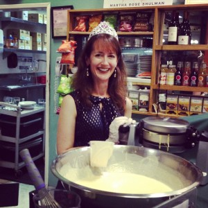BP's Kathy Petrocelli and the supersize waffle batter bowl